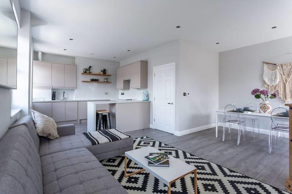 Apartament, 2 sypialnie, dla niepalących - Salon