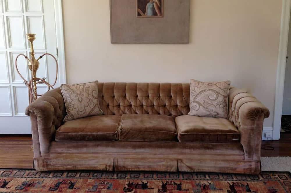 Apartmán typu Classic, 1 veľké dvojlôžko, nefajčiarska izba, výhľad na mesto - Obývačka