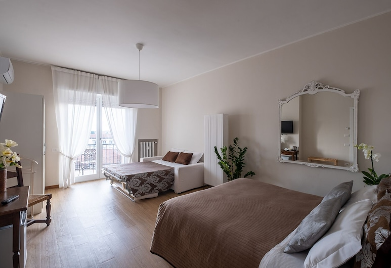 Cute & Cozy Rooms, Bergamo, Camera quadrupla, balcone, Camera
