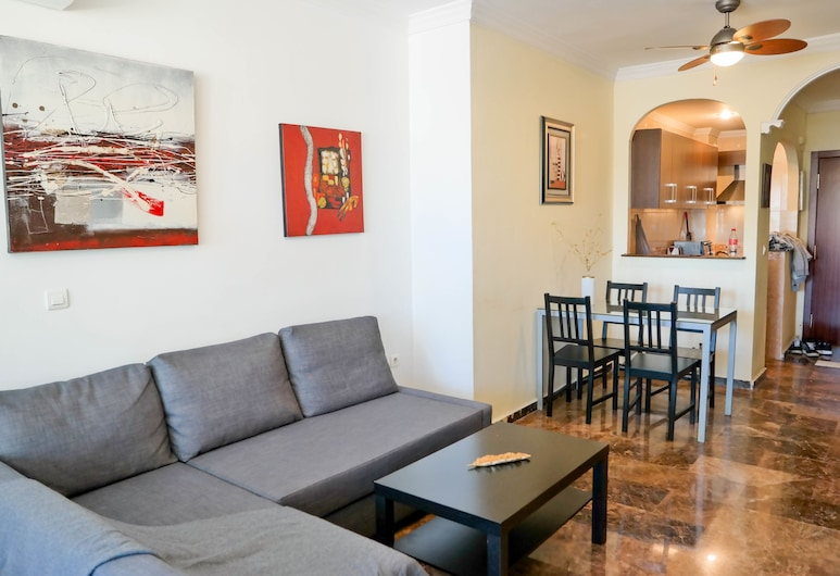 Tao Apartment, Torremolinos, Deluxe appartement, 1 tweepersoonsbed met slaapbank, Woonruimte
