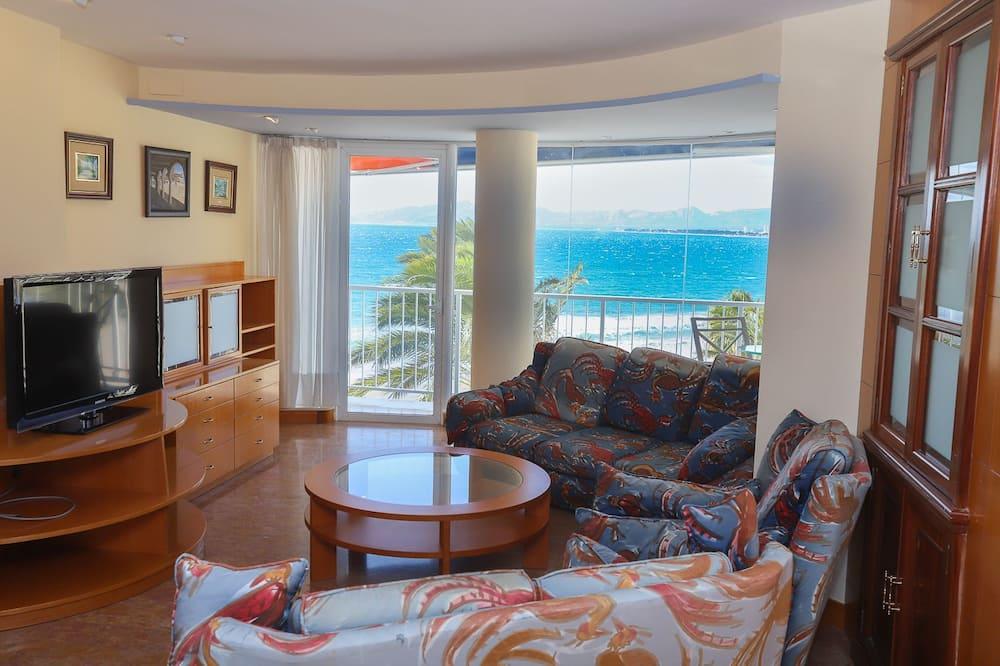 อพาร์ทเมนท์, 3 ห้องนอน, วิวชายหาด - ห้องนั่งเล่น