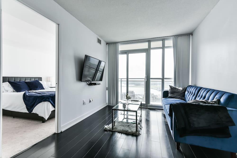 Квартира, 1 двуспальная кровать «Квин-сайз» с диваном-кроватью - Зона гостиной