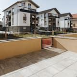 デザイン アパートメント クイーンベッド 1 台ソファーベッド付き 禁煙 シティビュー - テラス / パティオ
