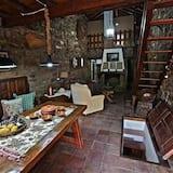 Ferienhaus, 2Schlafzimmer, Gartenblick (María Fiscer) - Essbereich im Zimmer