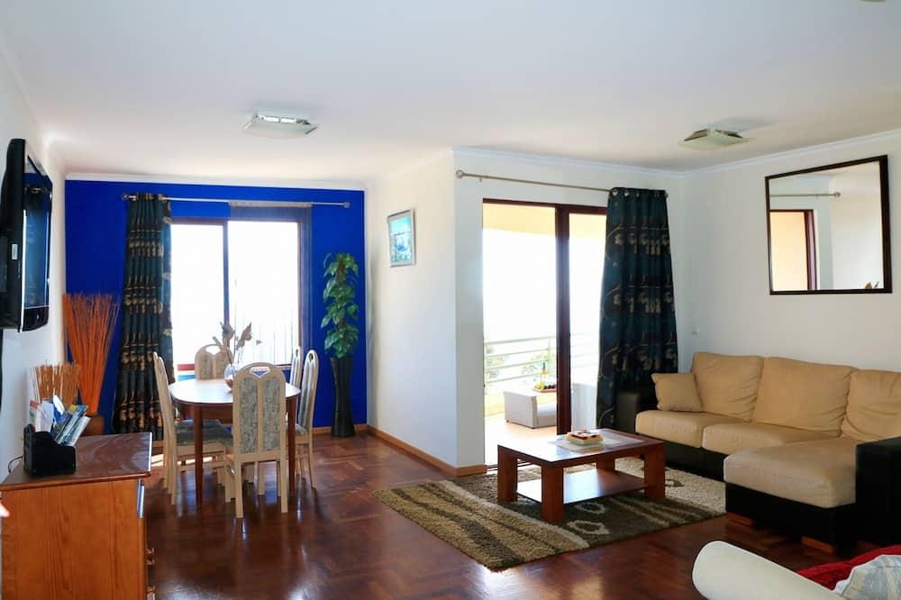 Apartamentai, 2 miegamieji, terasa (Garajau II) - Svetainės zona
