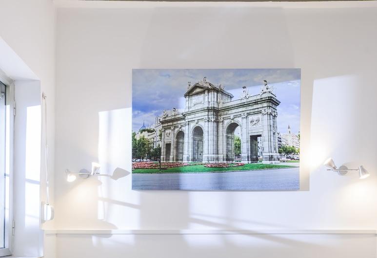 Charming Puerta de Toledo II, Madrid, Studio, dvojlůžko a rozkládací pohovka, vlastní koupelna, Obývací pokoj