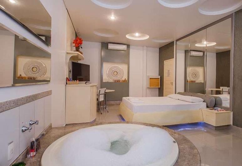 Motel Sedución (Aduilts Only), Κασκαβέλ, Δίκλινο Δωμάτιο (Double) (Super Luxo Extra), Ιδιωτική μπανιέρα υδρομασάζ