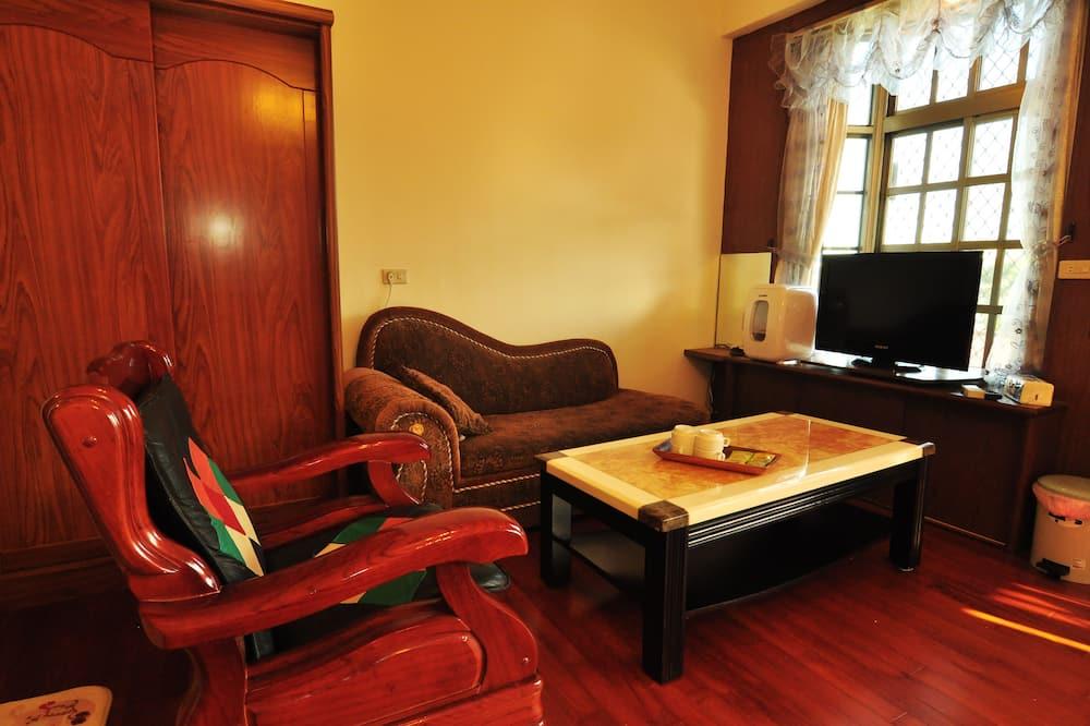 Superior-værelse til 4 personer - 2 dobbeltsenge - ikke-ryger - Opholdsområde
