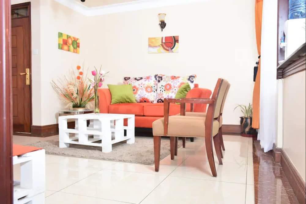 Apartment, 1 Doppelbett, Nichtraucher - Essbereich im Zimmer
