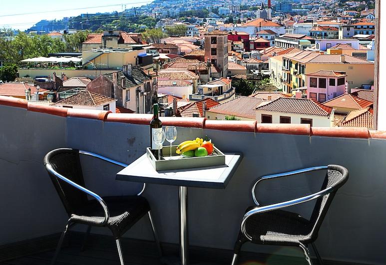 São Tiago, Funchal, apartman, 1 hálószobával, erkély, kilátással a tengerre, Erkély