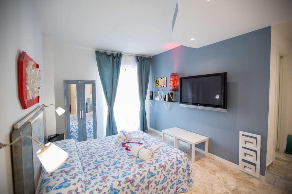 Pokój dwuosobowy z 1 lub 2 łóżkami typu Superior, Łóżko queen, dla niepalących, widok na miasto - Pokój