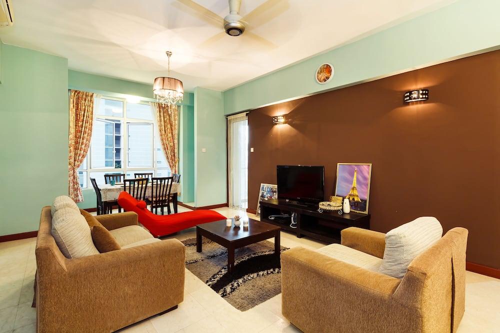 Apartmán typu Classic, dvojlůžko, nekuřácký, výhled na město - Obývací pokoj