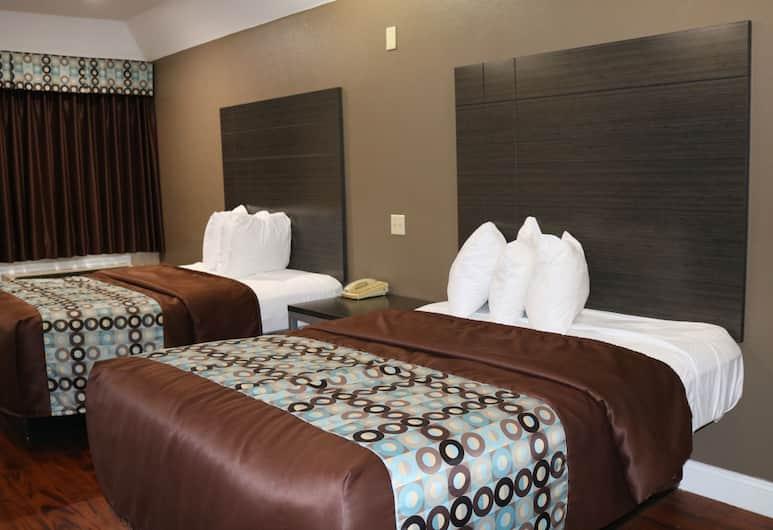 luxury inn and suits, Houston, Jednolôžková izba typu Deluxe, 2 veľké dvojlôžka, fajčiarska izba, Hosťovská izba