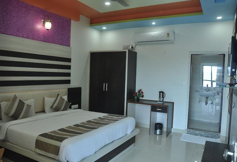 Hotel Airport View, Jaipur, Chambre Double Deluxe, 1 très grand lit, accessible aux personnes à mobilité réduite, non-fumeurs, Chambre