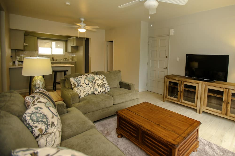 Apartman, 2 spavaće sobe, pogled na ocean (A) - Dnevna soba