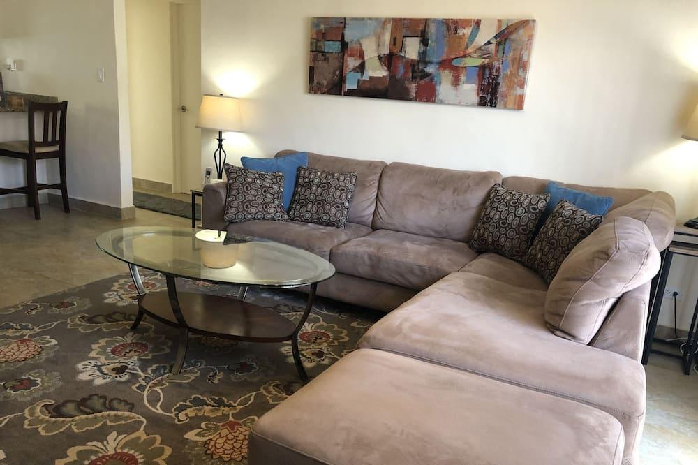 Apartman, 2 spavaće sobe, pogled na ocean (B) - Dnevni boravak