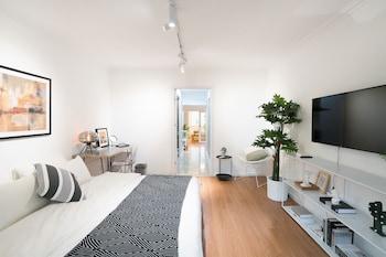 Selline näeb välja Cactus space - Sanlitun Refreshing Theme Apartment, Peking