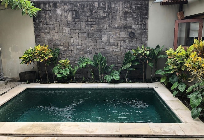 Serenity Twin Villa, Kerobokan, Villa - 4 sovrum - privat pool - utsikt mot trädgården, Utomhuspool