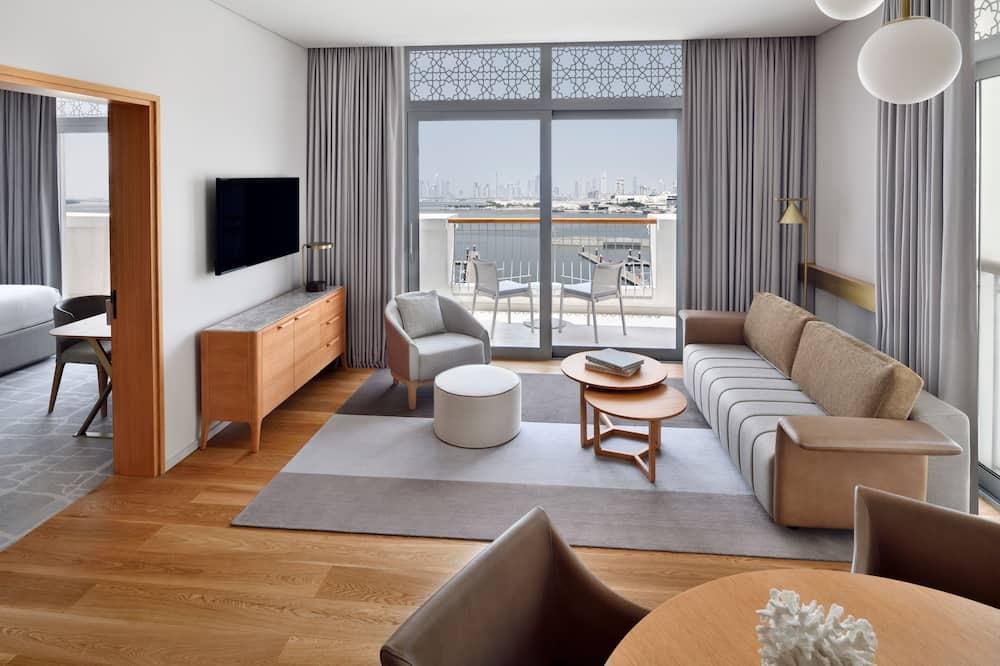 Premier Suite Corner Marina View - Woonruimte