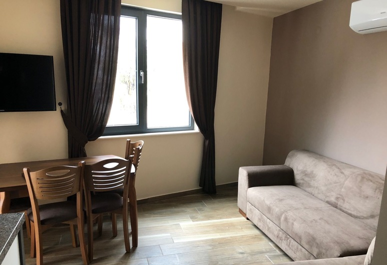 Hayal Residence Apart Otel, Antalya, Deluxe-Apartment, Balkon, Wohnbereich