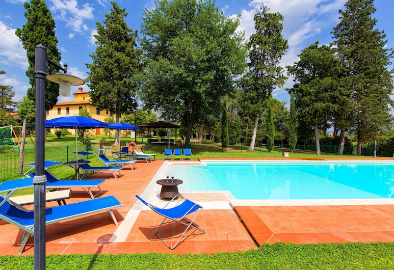 Villa La Colomba, Cortona, Kolam Terbuka