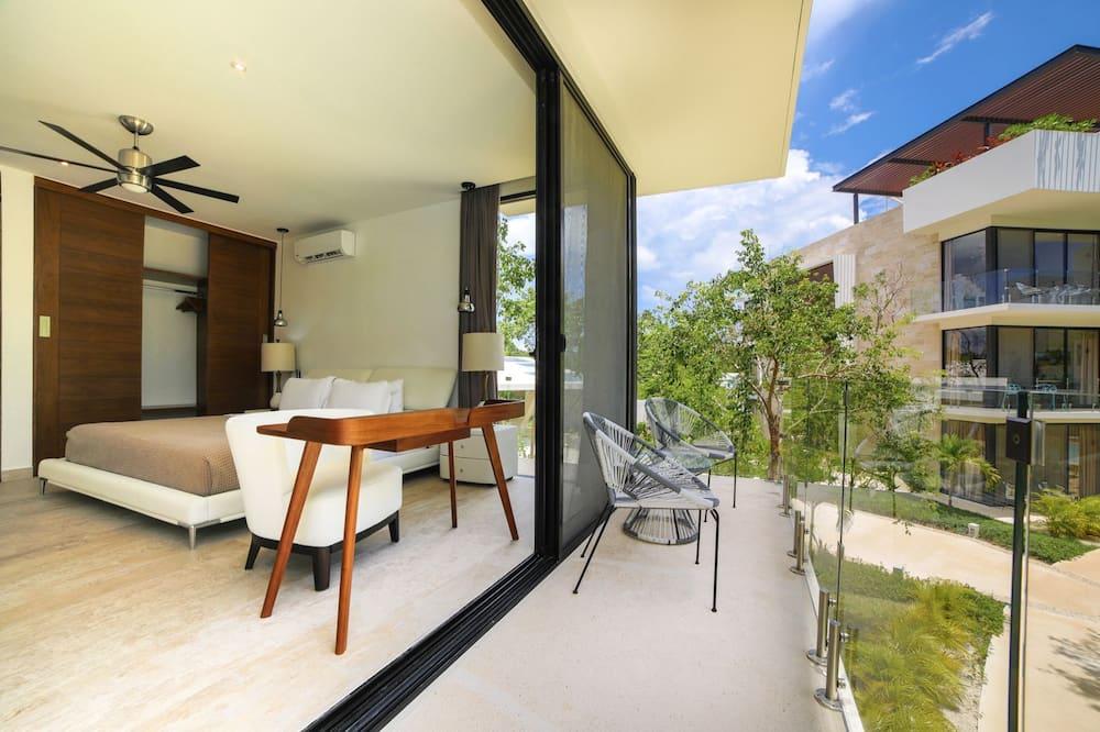 公寓, 1 間臥室, 泳池景 - 露台