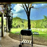 Cabin with Mountain View  - Living Area
