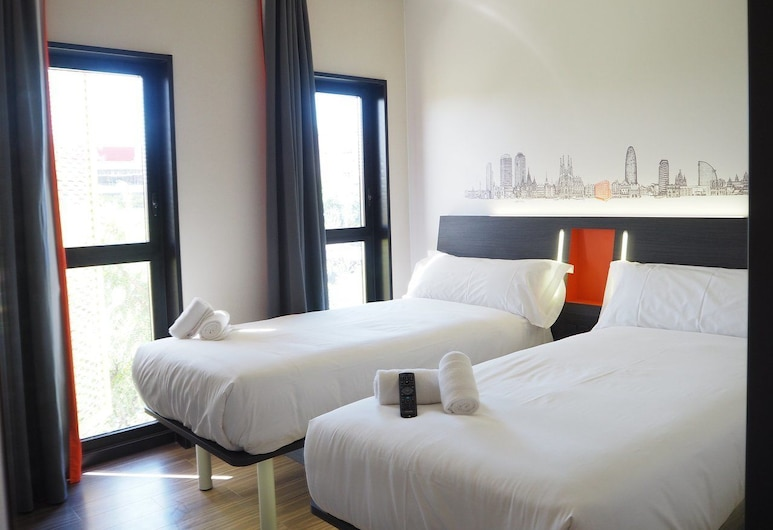 easyHotel Zürich Limmatplatz, Zürich, Basic Twin Room, 2 Single Beds, Non Smoking, Guest Room