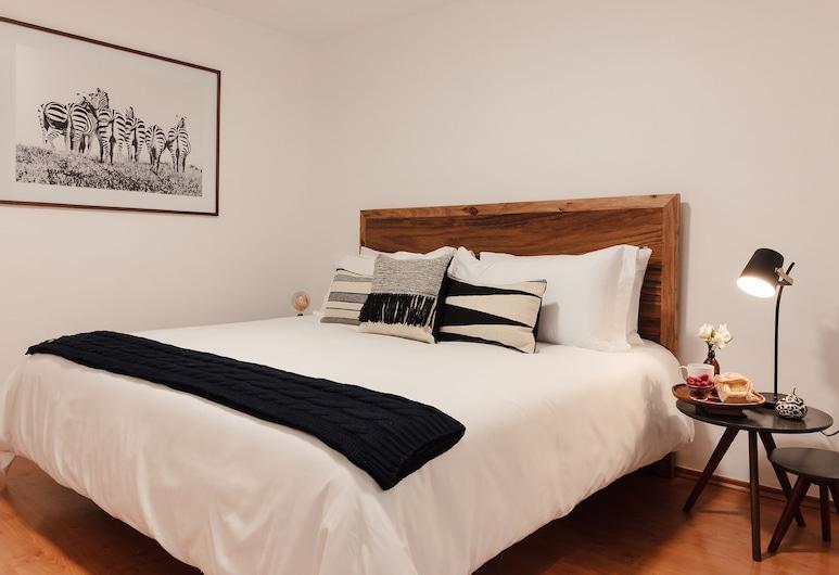 羅馬道地風格酒店 - 秘密花園酒店, 墨西哥城, 經典公寓, 1 張特大雙人床, 非吸煙房, 客房