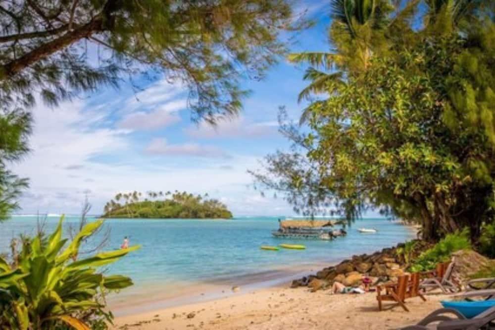 Villa, vue lagon, en bord de plage - Chambre