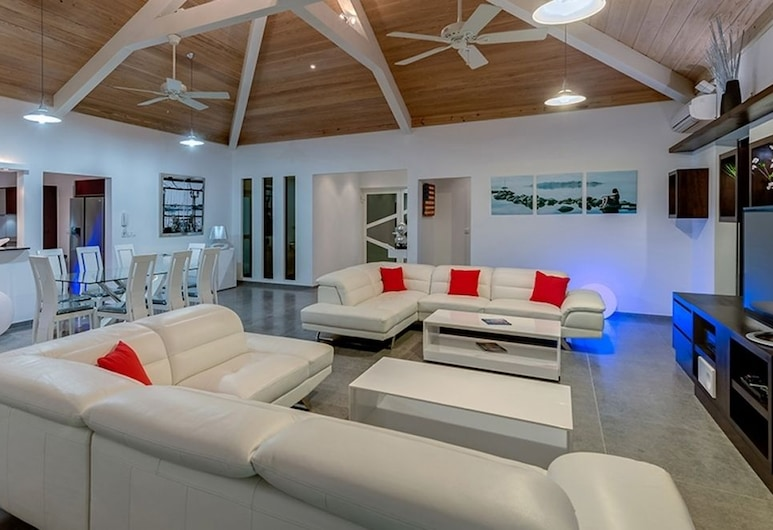 Villa Grand Palms, Les Terres-Basses, Salle de séjour