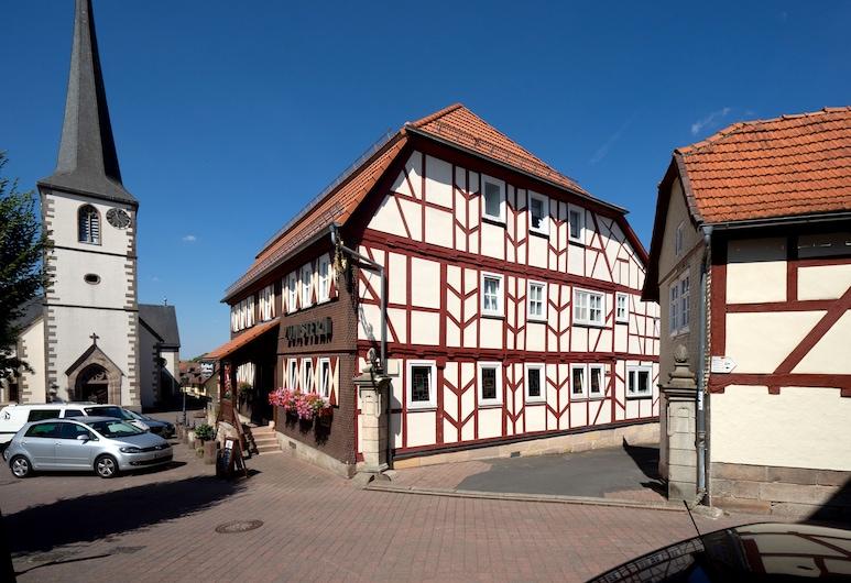 Landgasthof zum Stern , Poppenhausen, Terraza o patio