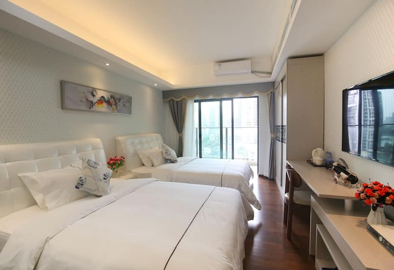 萊斯丹頓國際酒店公寓, 廣州市, 城景双床房, 客房