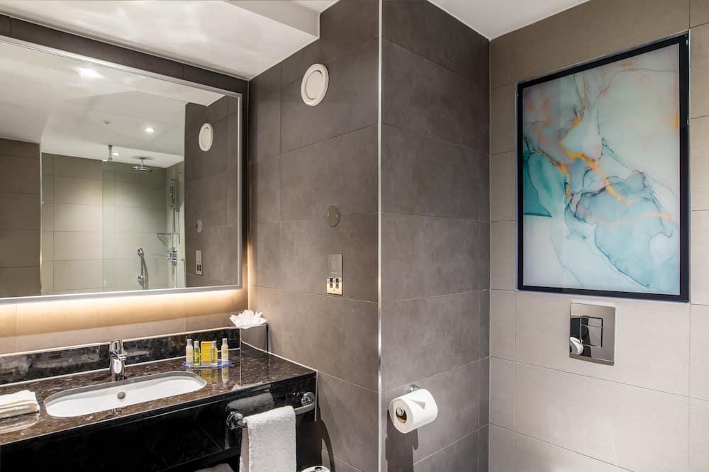 Huone, 1 suuri parisänky ja vuodesohva, Esteetön - Kylpyhuone