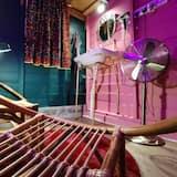 Signatur-værelse - 1 dobbeltseng - privat badeværelse - udsigt til flod - Opholdsområde