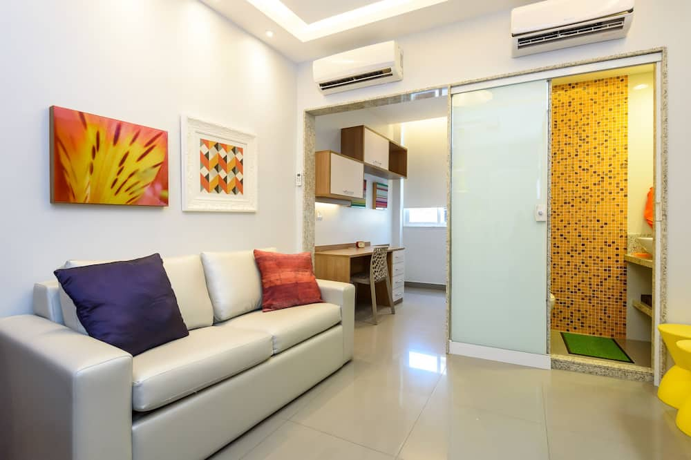 Design Apartment, 1 Double Bed with Sofa bed, Non Smoking - Living Room