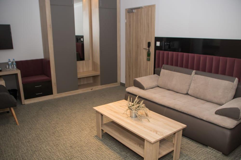 סוויטה, 2 מיטות יחיד, נוף לגן - אזור מגורים