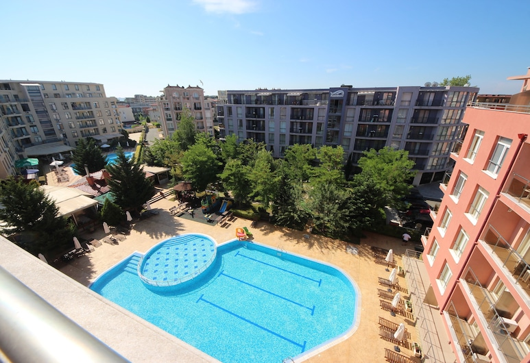 Rainbow 2 - Menada Apartments, Sunny Beach, Classic Studio, Balcony, Pool View, Balcony View