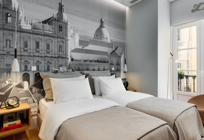 LX4U Apartments  Baixa Douradores, Λισσαβώνα, Superior Διαμέρισμα, 1 Υπνοδωμάτιο, Μπαλκόνι, Δωμάτιο
