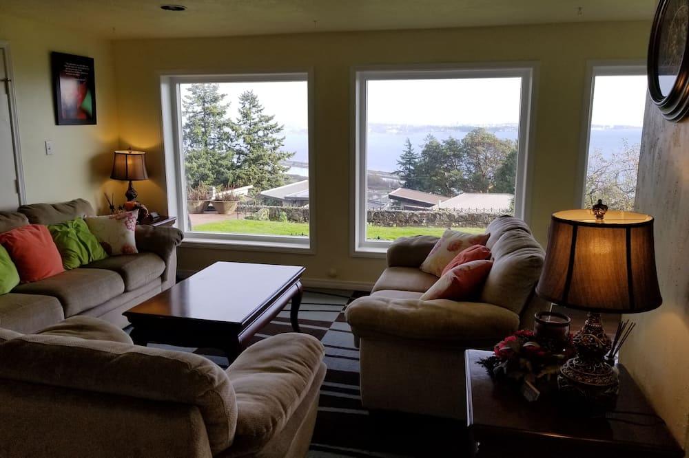 舒適雙人房, 2 張標準雙人床, 非吸煙房, 海景 - 客廳