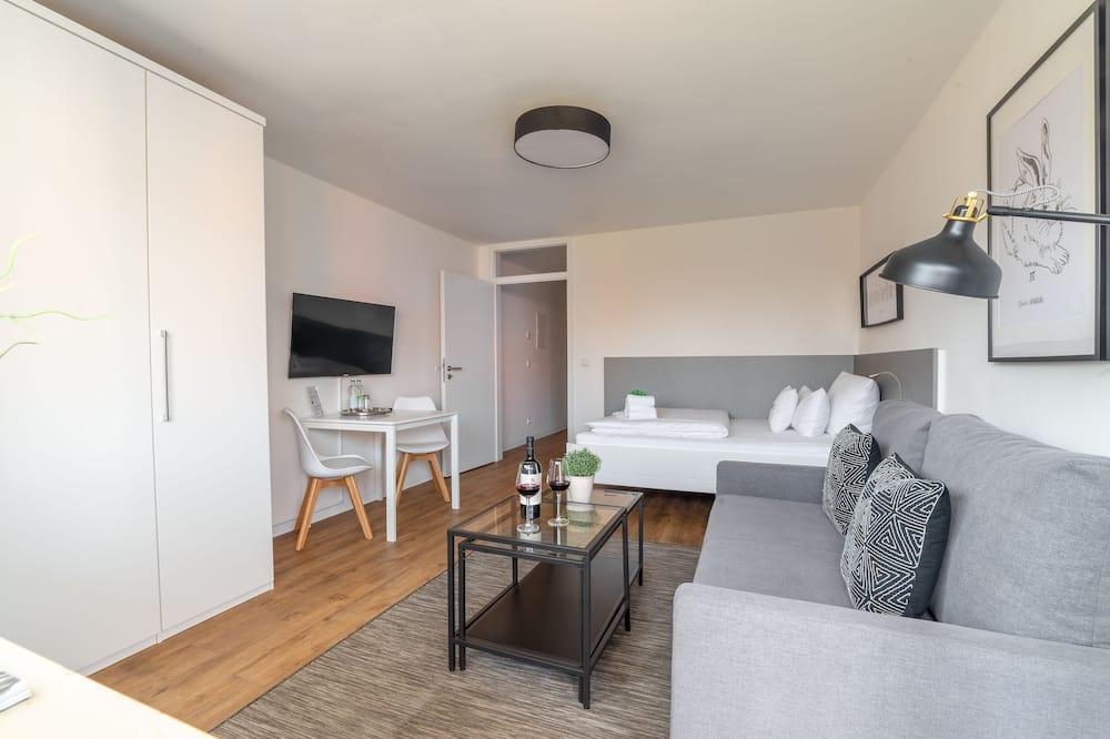 شقة بتجهيزات أساسية - سرير كبير مع أريكة سرير - منطقة المعيشة