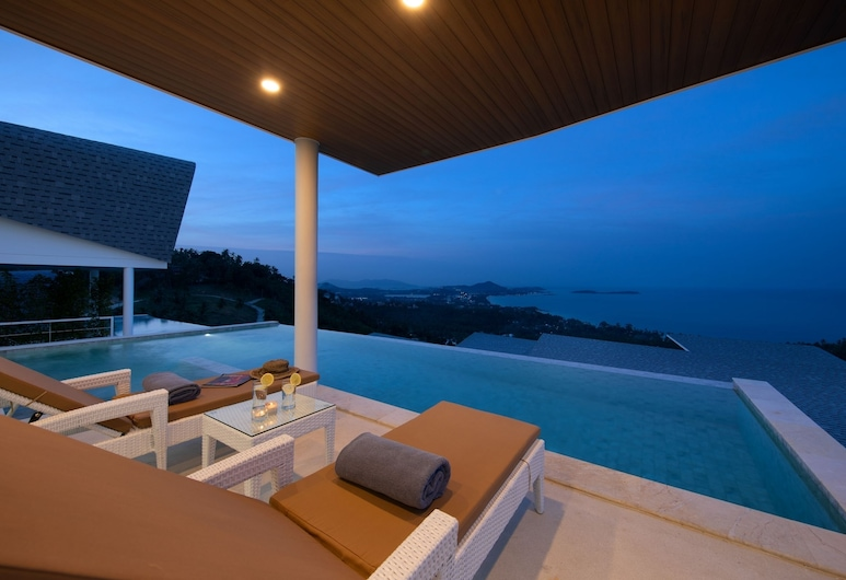 銀河 4 房海景別墅酒店, 蘇梅島, 4 - Bedrooms Private Pool Villa, 陽台