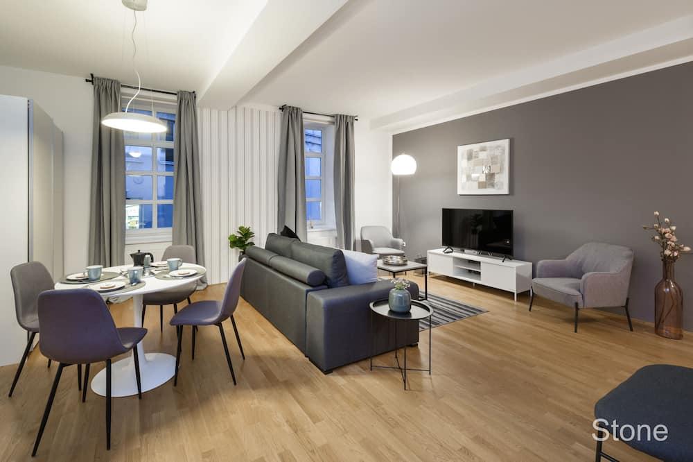 公寓, 1 張標準雙人床及 1 張梳化床 - 客廳
