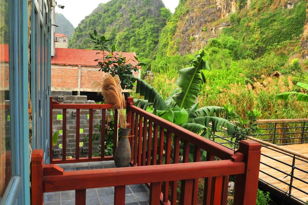 Familien-Dreibettzimmer, Gartenblick - Balkon