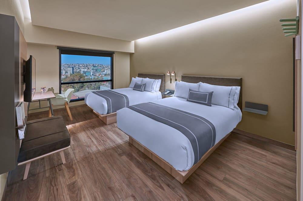 Standaard tweepersoonskamer, 2 queensize bedden, niet-roken - Uitzicht op stad