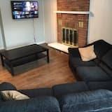 Rodinný domek, více lůžek, nekuřácký, výhled do zahrady - Obývací pokoj