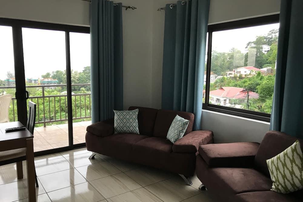 Komforta dzīvokļnumurs, skats uz jūru - Dzīvojamā zona
