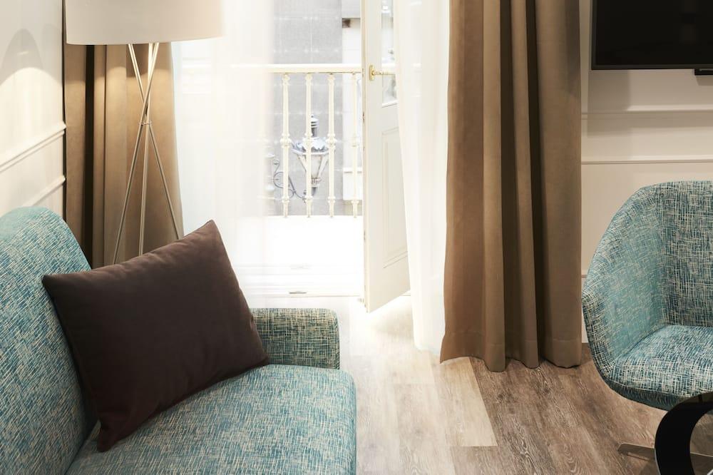 Junior-Suite, 1King-Bett und Schlafsofa, Nichtraucher - Balkon