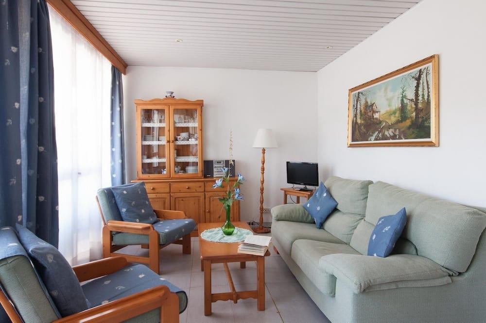 Appartement, 2 chambres, terrasse, en front de plage - Coin séjour
