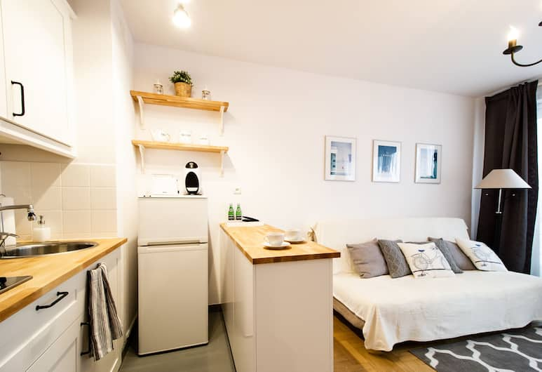 Arkadia Chillout Apartment, Varšava, Komforta dzīvokļnumurs, skats uz pilsētu, Dzīvojamā zona